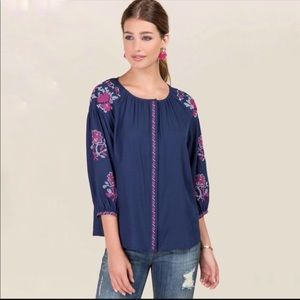 Francesca's Closet Anna Be l Embroidered Shirt